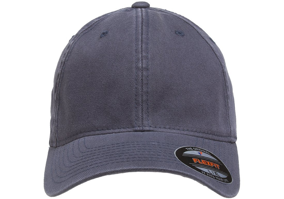 Flexfit/Yupoong Men's Low-Profile Unstructured Fitted Dad Cap, Navy, Large/Extra Large by Flexfit/Yupoong (Image #3)