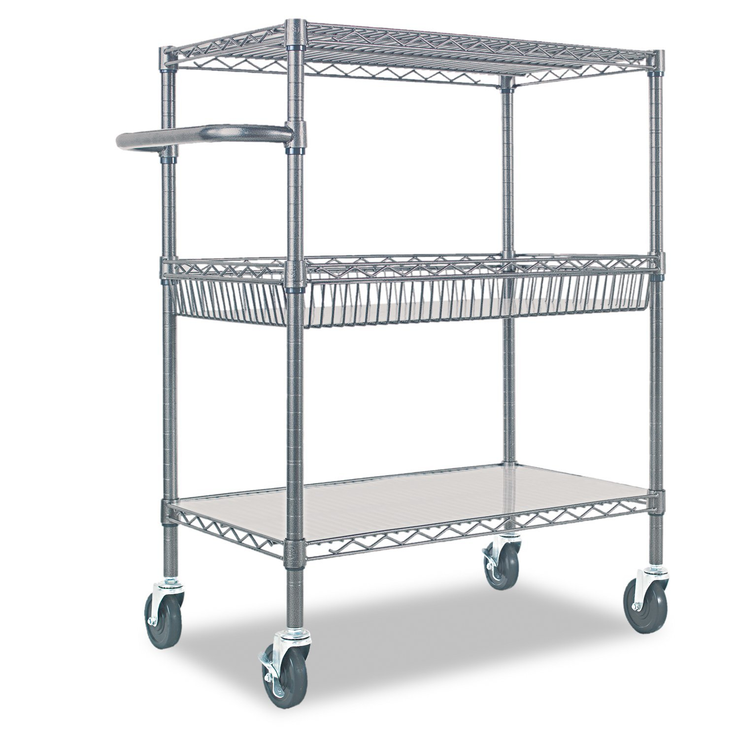 Beau Amazon.com: Alera 3 Tier Wire Rolling Cart, Black Anthracite: Kitchen U0026  Dining