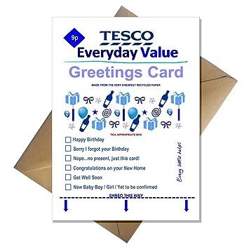 Tesco everyday value birthday card supermarket spoof funny a5 tesco everyday value birthday card supermarket spoof funny a5 basic card bookmarktalkfo Images