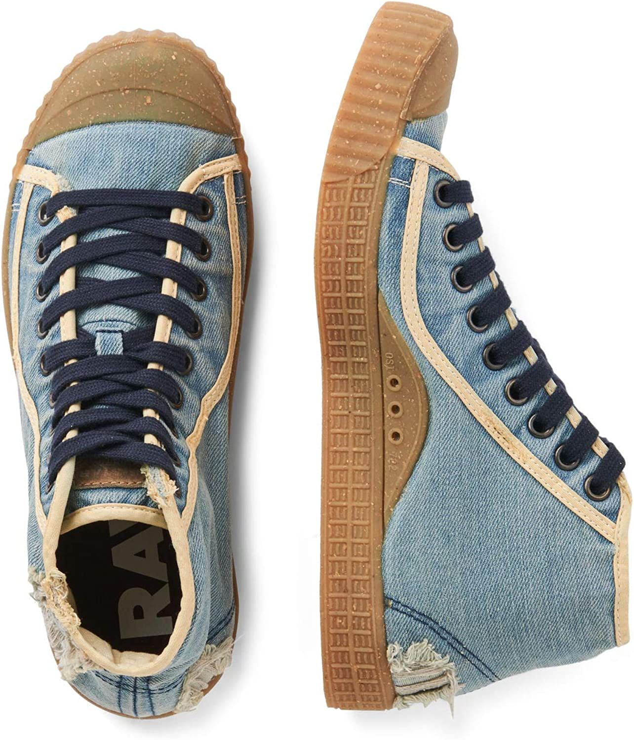 G-Star Raw Mens Rovulc-50-Years-Denim-Mid Sneakers Shoes