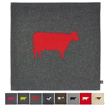 ebos Cojín asiento, 40 x 40 cm ✓ 100% fieltro de lana ...