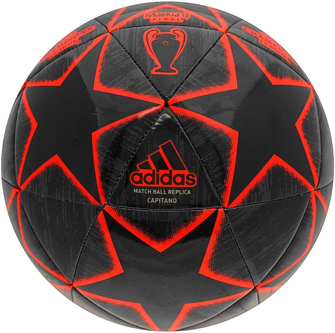 adidas Champions League 19 Balón de Fútbol, Hombre (Negro/Rojo/Final Champions League Madrid 2019) Tamaño 5: Amazon.es: Deportes y aire libre