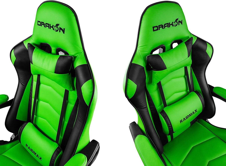 Drakon Raidmax 709 - Silla de Juego, Color Verde: Amazon.es: Juguetes y juegos