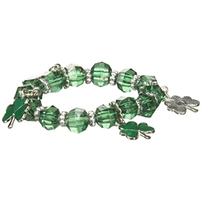 amscan St. Patrick's Day Plastic Stretch Bracelet | Party Favor: Toys & Games
