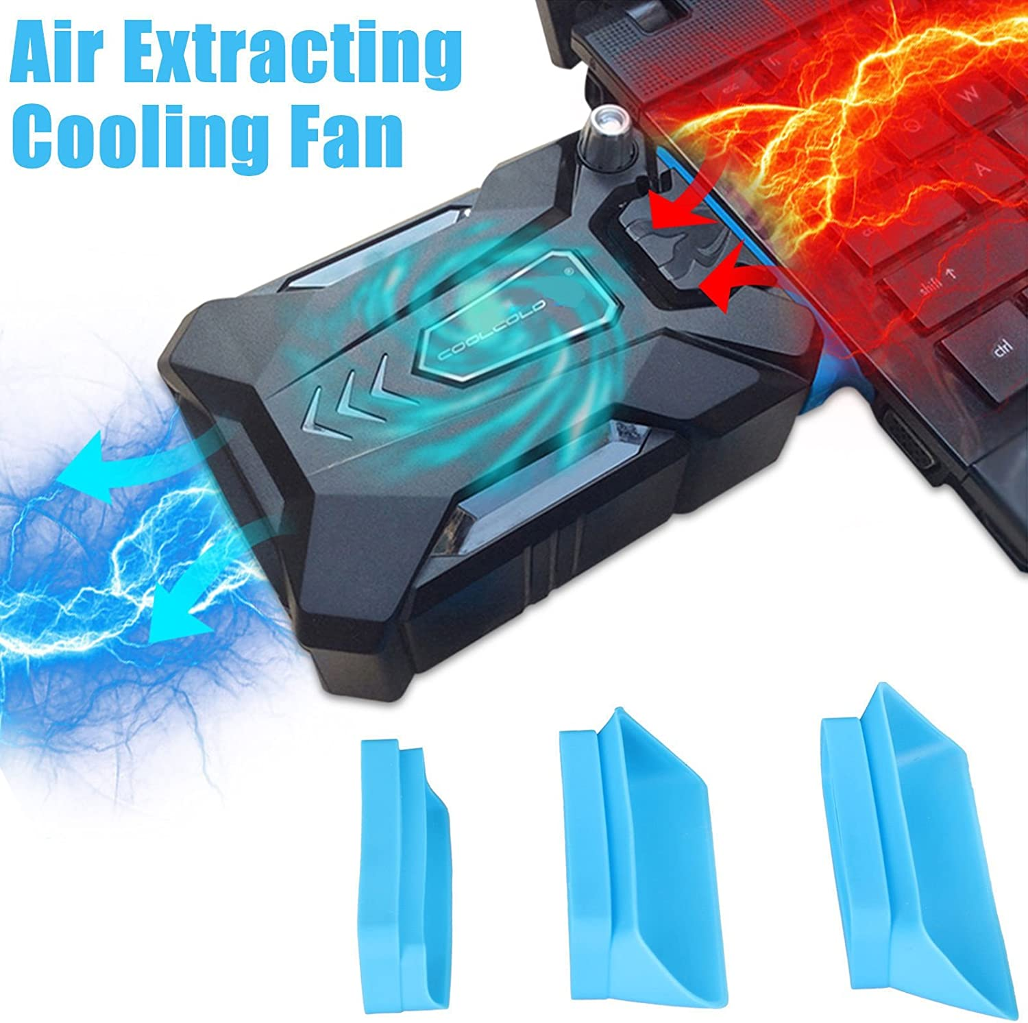 Bestyu Mini Vacuum Air Extracting USB Cooling Pad Cooler Fan For Macbook Pro Dell HP Notebook Laptop PC