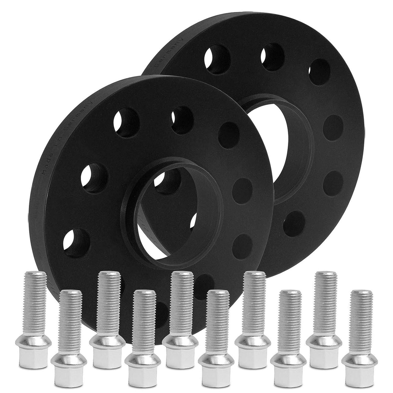 BlackLine Spurverbreiterung 30mm 15mm 12119W/_75/_M1415KU43S mit Schrauben silber 5x112 57,1mm