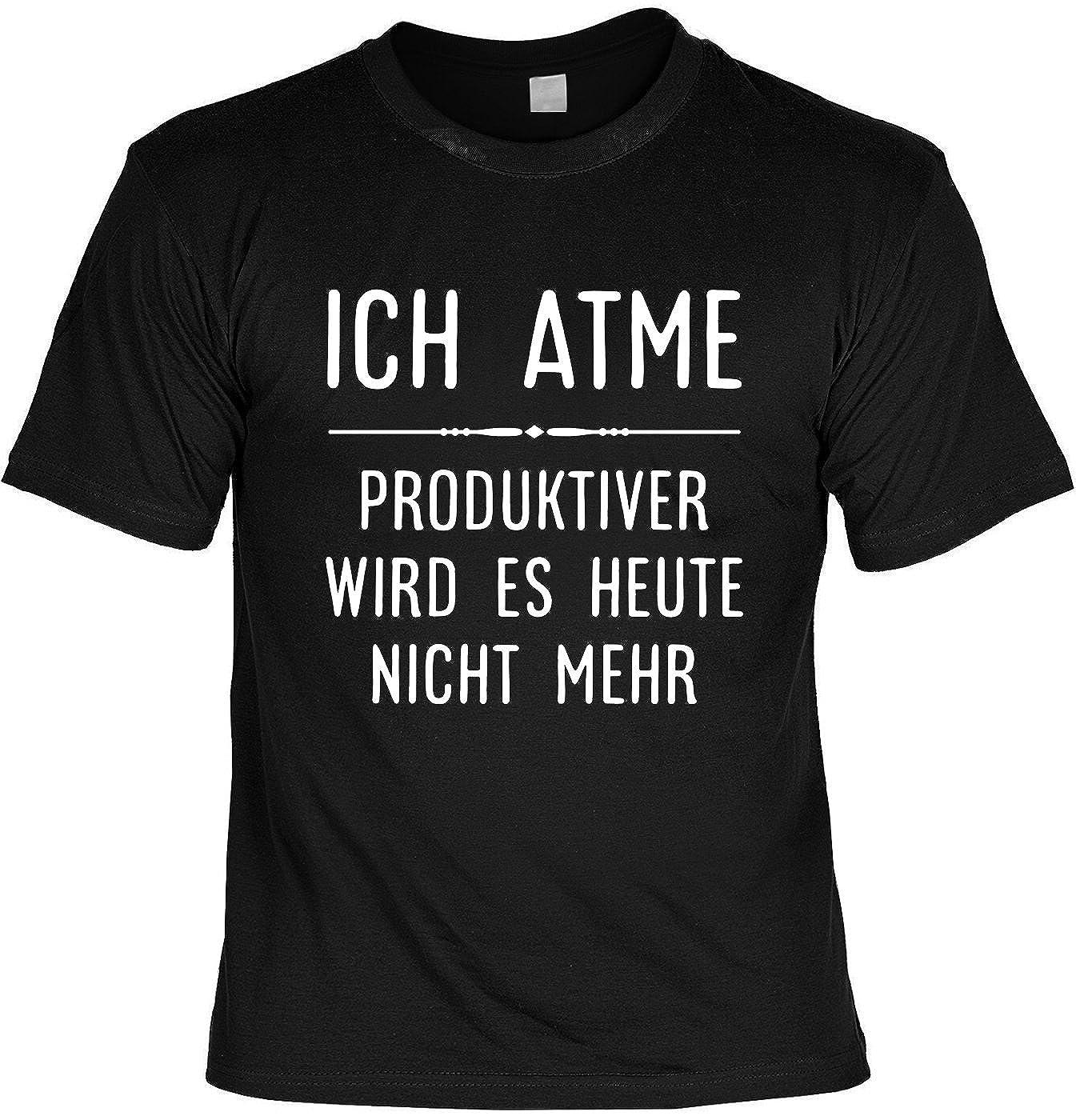 Mega-Shirt Lustiges Sprüche Shirt T-Shirt mit Urkunde Ich Atme… Geschenkartikel Fun Artikel Partygeschenk Man Männer Geschenk