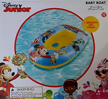 Disney Flotador Junior Mickey Mouse los Niños inflables Barco del bebé Edad 3 6