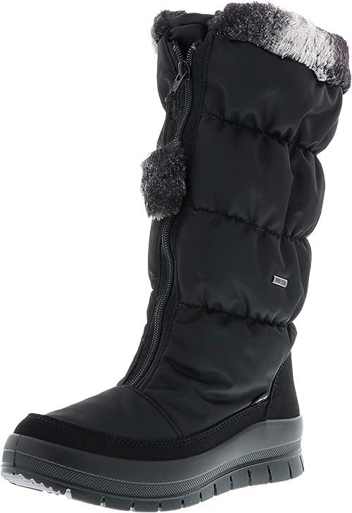 Vista Damen Winterstiefel Snowboots gefüttert schwarz