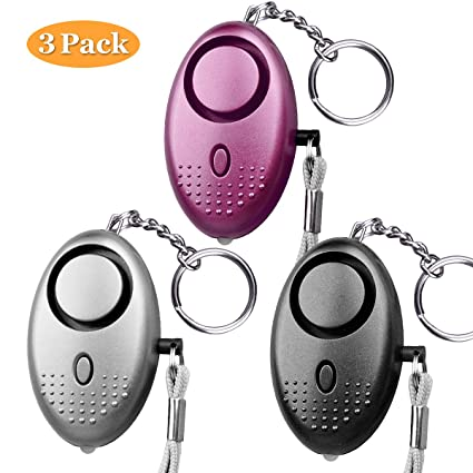 2019 New Designed Mini Led Light Personal Alarm Keychian For Women Girls Kids Elderly Personal Security Keychain Alarm Security & Protection