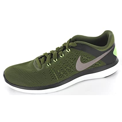outlet store 525ae ffd7b Amazon.com  Nike Flex 2016 RN Legion Green Metallic Pewter Black Men s  Running Shoes  Everything Else