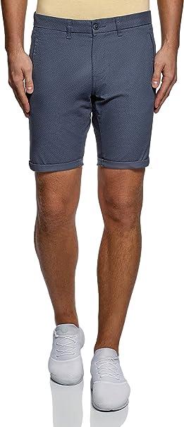 TALLA 48. oodji Ultra Hombre Pantalones Cortos de Algodón