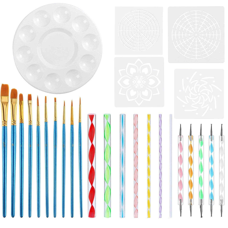 Kabi 14Pcs Dotting Tools & Rock Painting Pen Sets for Embossing Pattern, Coloring, Nail Art, Drawing and Clay Sculpting KABI0623