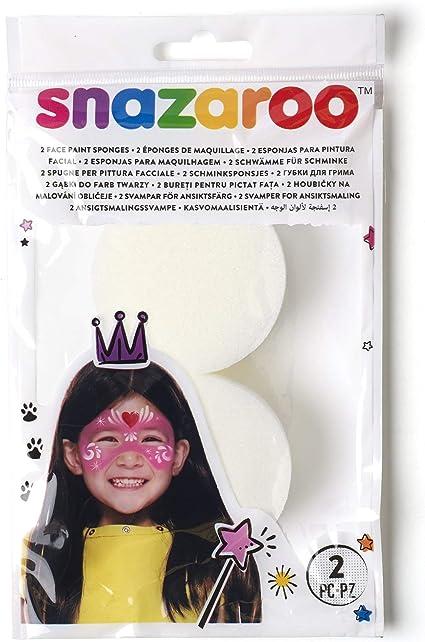 Snazaroo - Esponja de alta densidad para pintura facial, pack de 2: Amazon.es: Belleza