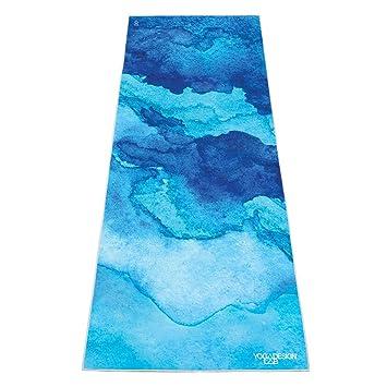 Yoga Design Lab LA Mejor Toalla DE Microfibra Antideslizante| Ligera, Absorbente, Sustentable y