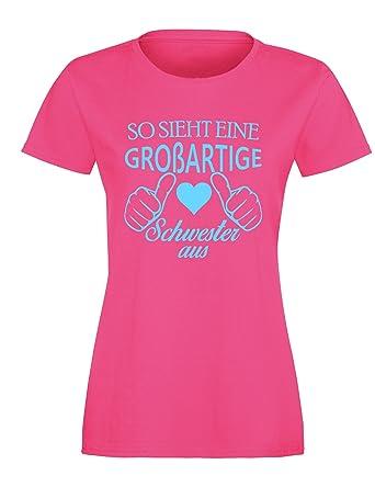 So sieht eine großartige Schwester aus - Damen Rundhals T-Shirt