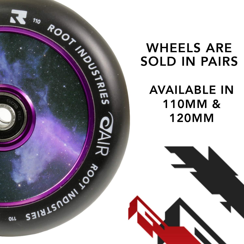Root Industries 110mm AIR Wheels Pair Black//Galaxy