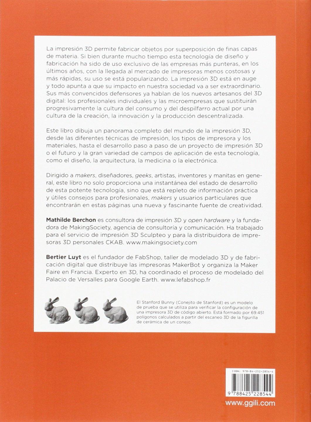 La impresión 3D: Amazon.es: Berchon, Mathilde, Luyt, Bertier ...