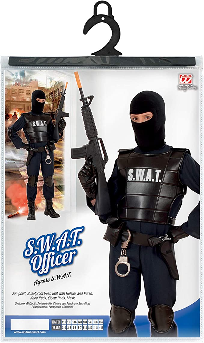 S.W.A.T.. - Disfraz de oficial SWAT para niño, talla 13 años ...