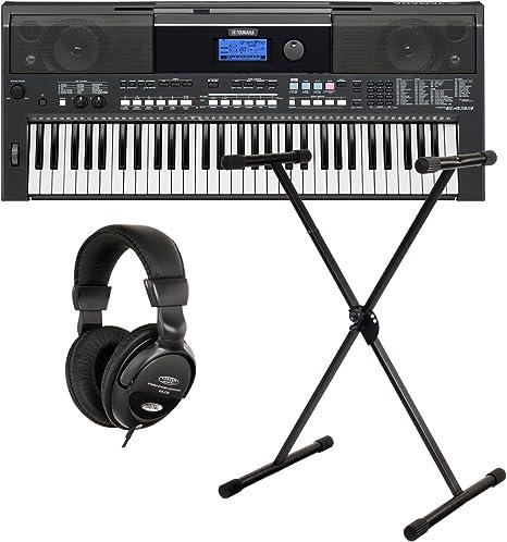 Yamaha PSR E433 Keyboard Set Soporte + Auriculares : Amazon ...