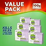 Dettol Antibacterial Bar Soap Sensitive, 100 g, Pack of 6