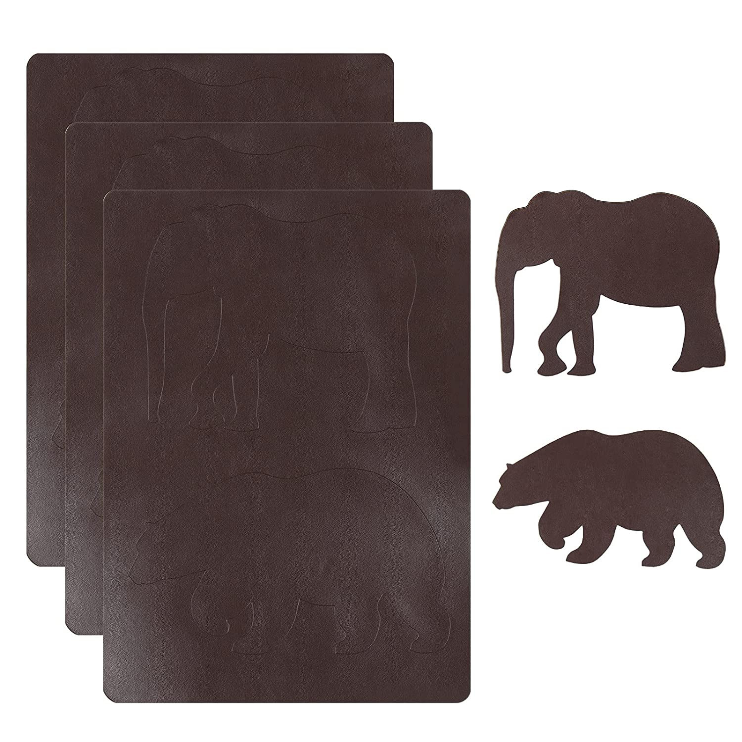 Beautiful Animal Shape Leather Repair Patch Kits, Self Adhesive Waterproof Leather Repair Tape,DIY Leather Patches for Car Seats,Couches,Drivers Seat,Furniture