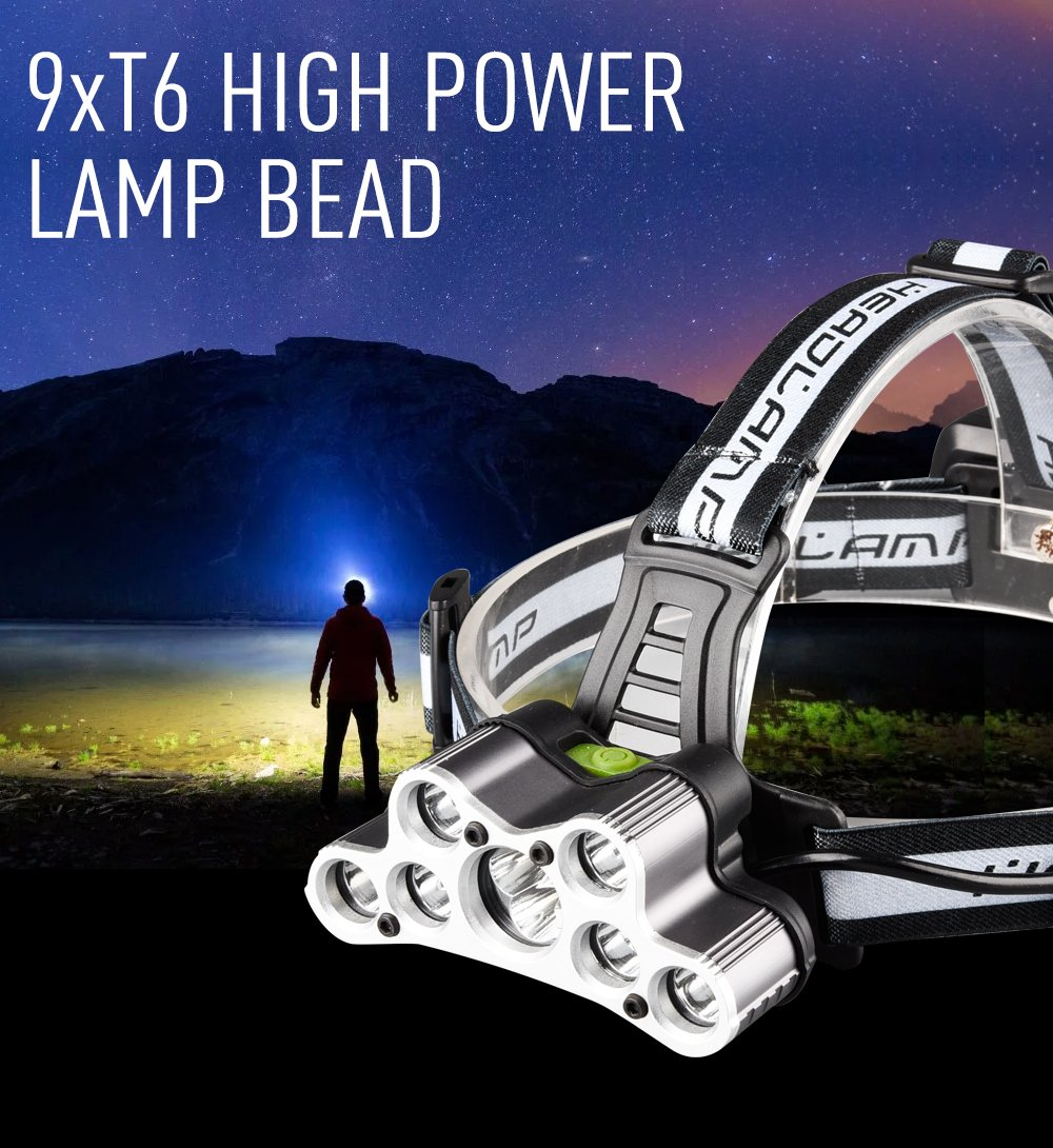 Running or Camping headlamps /… Beynoe Rechargeable LED headlamp,Brightest and Best 9 LED Headlamp 45000 Lumen Zoomable Waterproof CREE Headlamps Waterproof Hard Hat Light Bright Head Lights