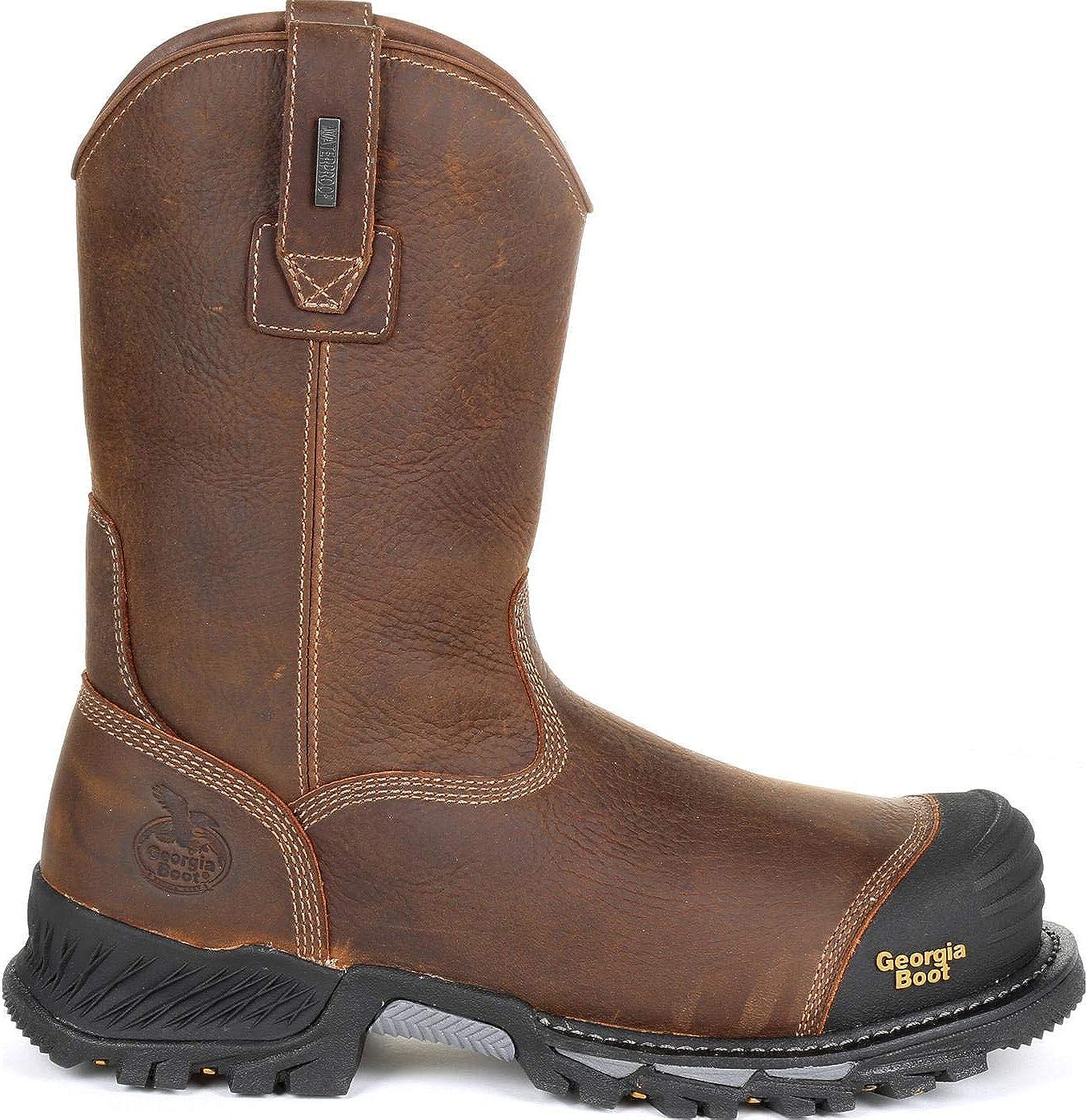 Georgia Boot Mens Rumbler 10 Composite Toe Pull-On