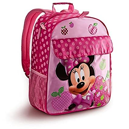 34a768e0082 Amazon.com  Disney Store Pink Minnie Mouse Backpack with Polka Dots  Mickey  Mouse Clubhouse Style  Sports   Outdoors
