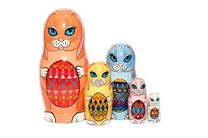 Amazon easter bunnies nesting dolls nesting dolls for kids easter bunnies nesting dolls nesting dolls for kids easter gift russian nesting doll negle Image collections
