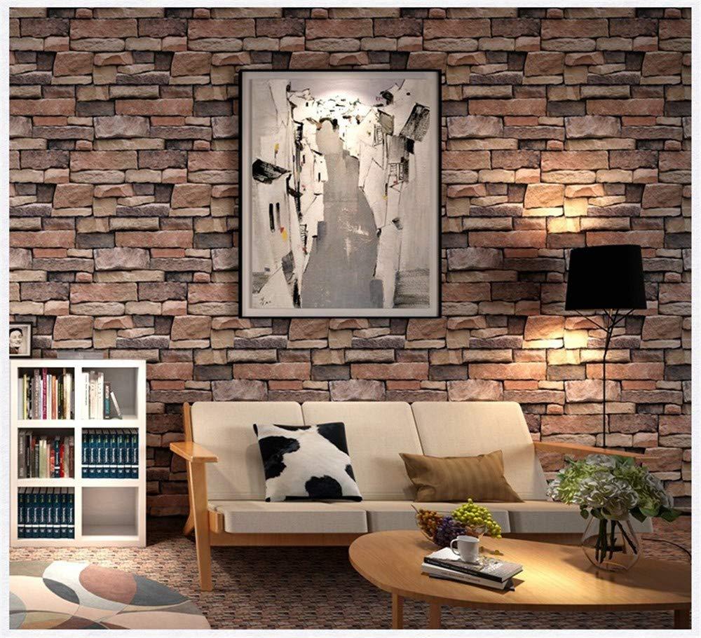 Papier peint motif de pierre de personnalit/é imitation 3D mod/èle de pierre KTV caf/é loft papier peint mur de fond bleu