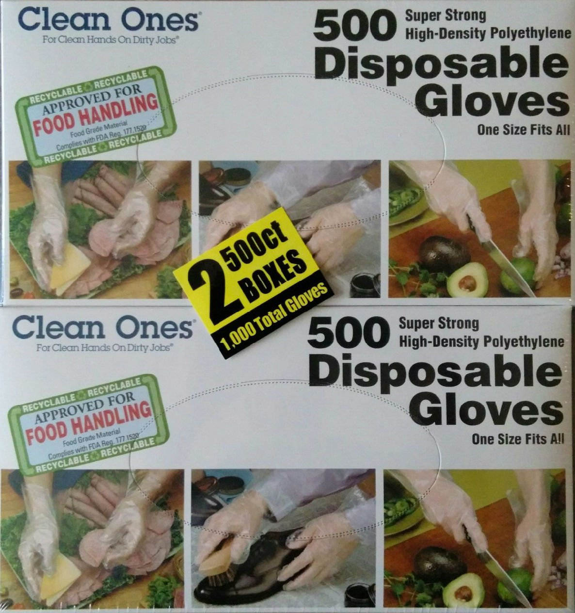 com clean ones disposable gloves count home kitchen