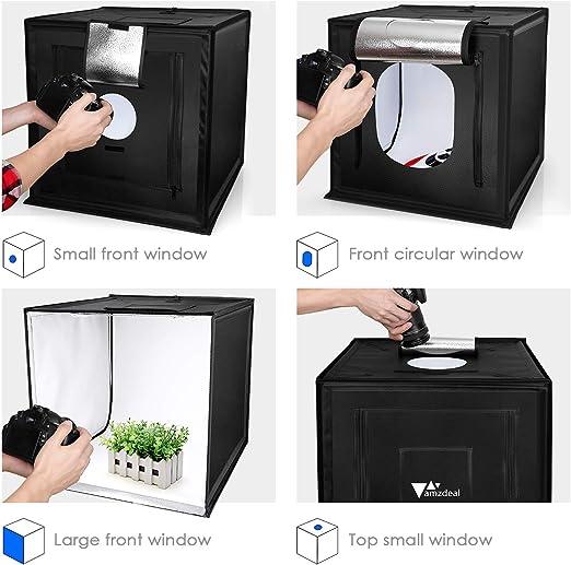 Amzdeal - Caja de luz para estudio fotográfico de 19,7 cm ...