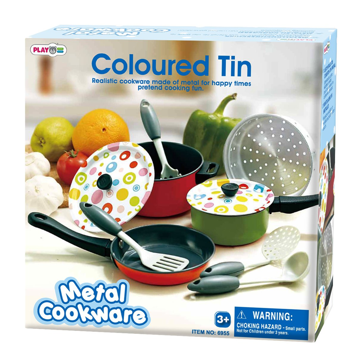 PlayGo Metal Cookware Coloured Tin by PlayGo