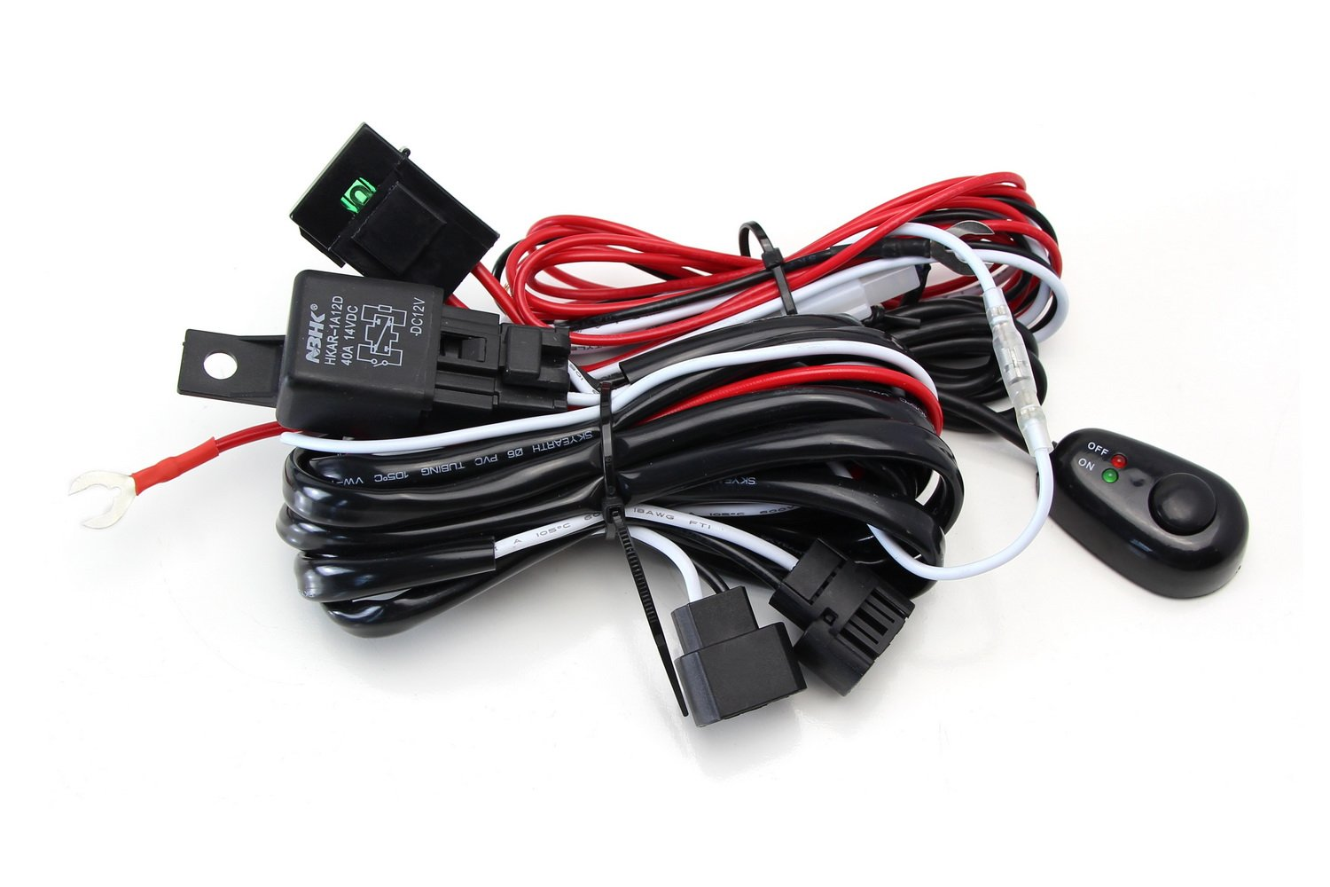 Ijdmtoy 1 5202 Psx24w 2504 Relay Harness Wire Kit With Chevrolet Colorado Fog Light Wiring Diagram Led On Off Switch For Aftermarket Lights Driving Hid Conversion