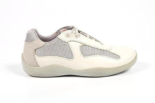 e83c2256b1 Sneakers Ragazzo/a Prada Linea Rossa 0E0001 O7B F0118 - Colore - Argento,  Taglia scarpa - 33: Amazon.it: Scarpe e borse