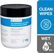FG Clean Wipes Presaturated Canister 70% Alcohol Wipes 5