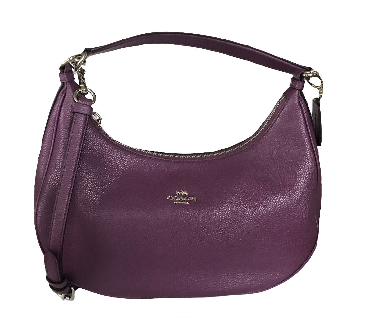 Coach Pebble Leather Harley East West Hobo in Black, F38250 IMBLK (Berry)
