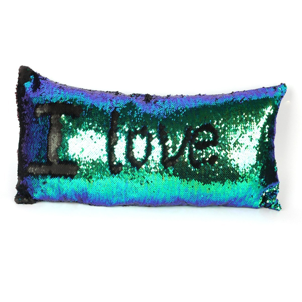 Ocosy Reversible 2 Colors Mermaid Pillow Case Sequins Pillow Cases Sofa Couch Cushion Cover Throw Pillow Case NO INSERT Hot Pink//Gold