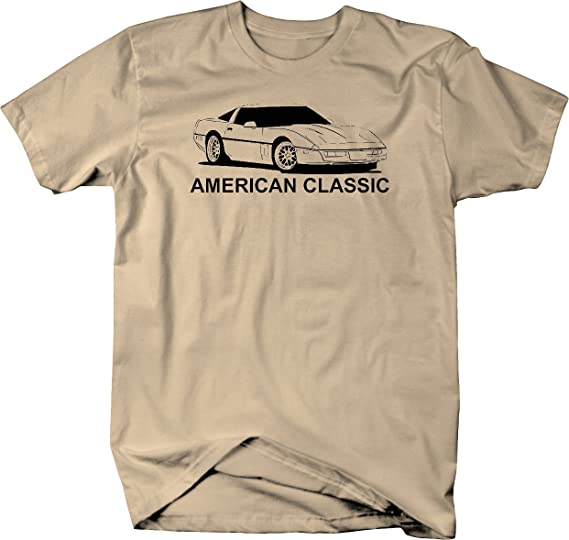 Vintage American Classic Muscle Car Vette ZR1 Graphic Hoodie for Men