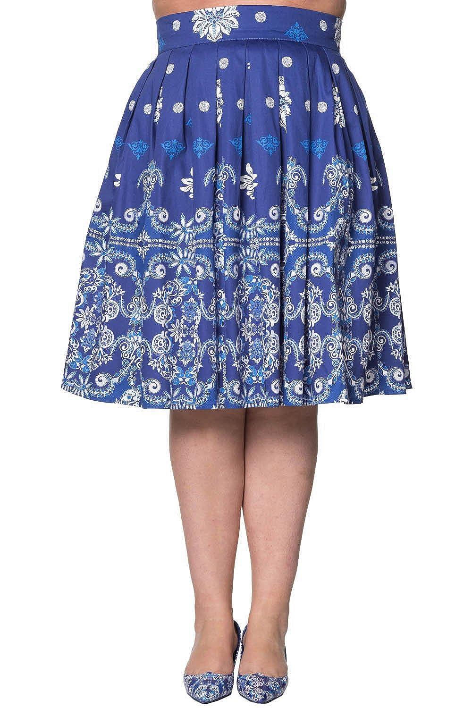 Banned - Falda - para Mujer Azul M: Amazon.es: Ropa y accesorios