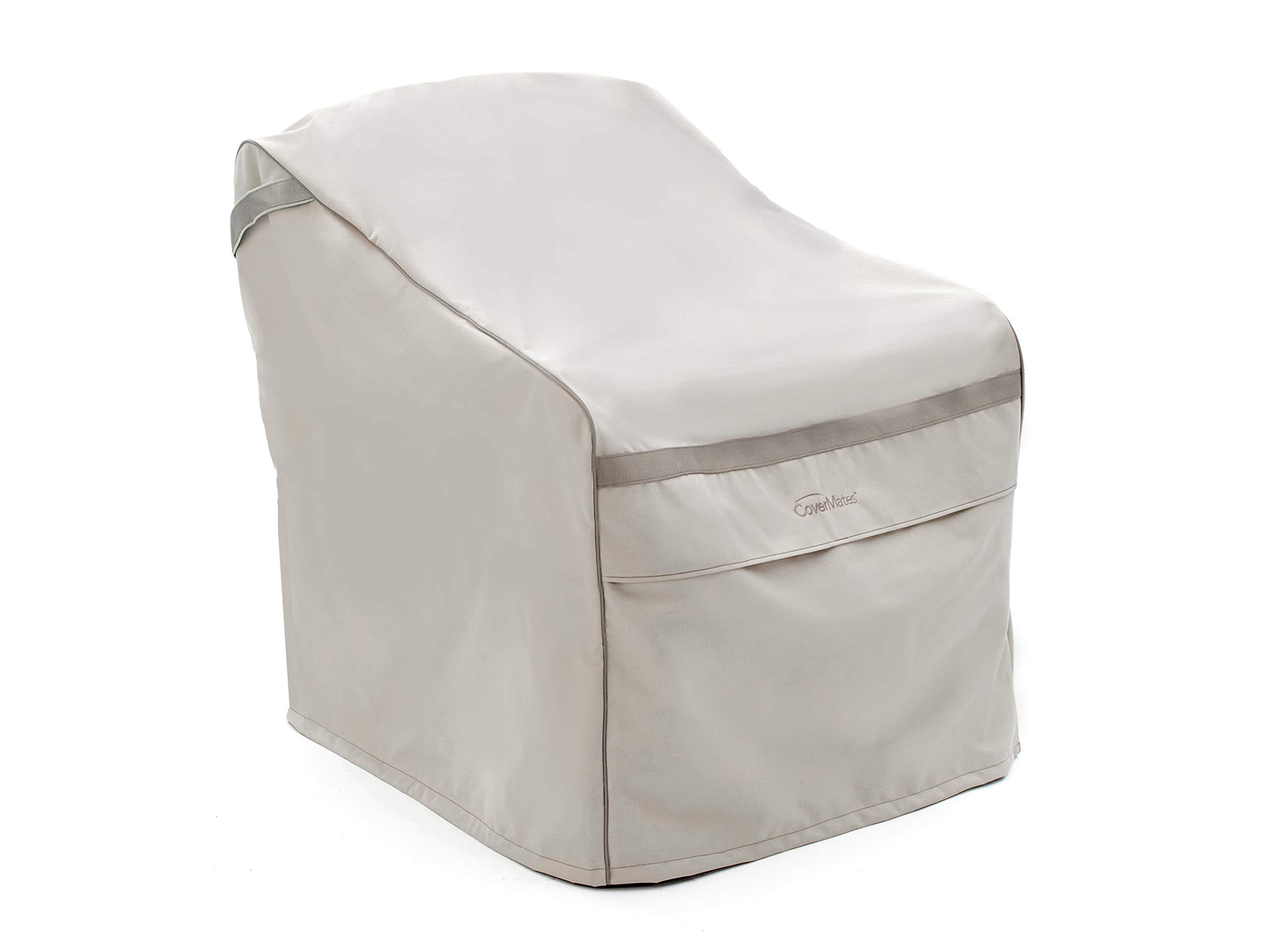 Covermates – Outdoor Chair Cover – 34W x 40D x 40H – Prestige Collection – 7 YR Warranty – Year Around Protection - Stone