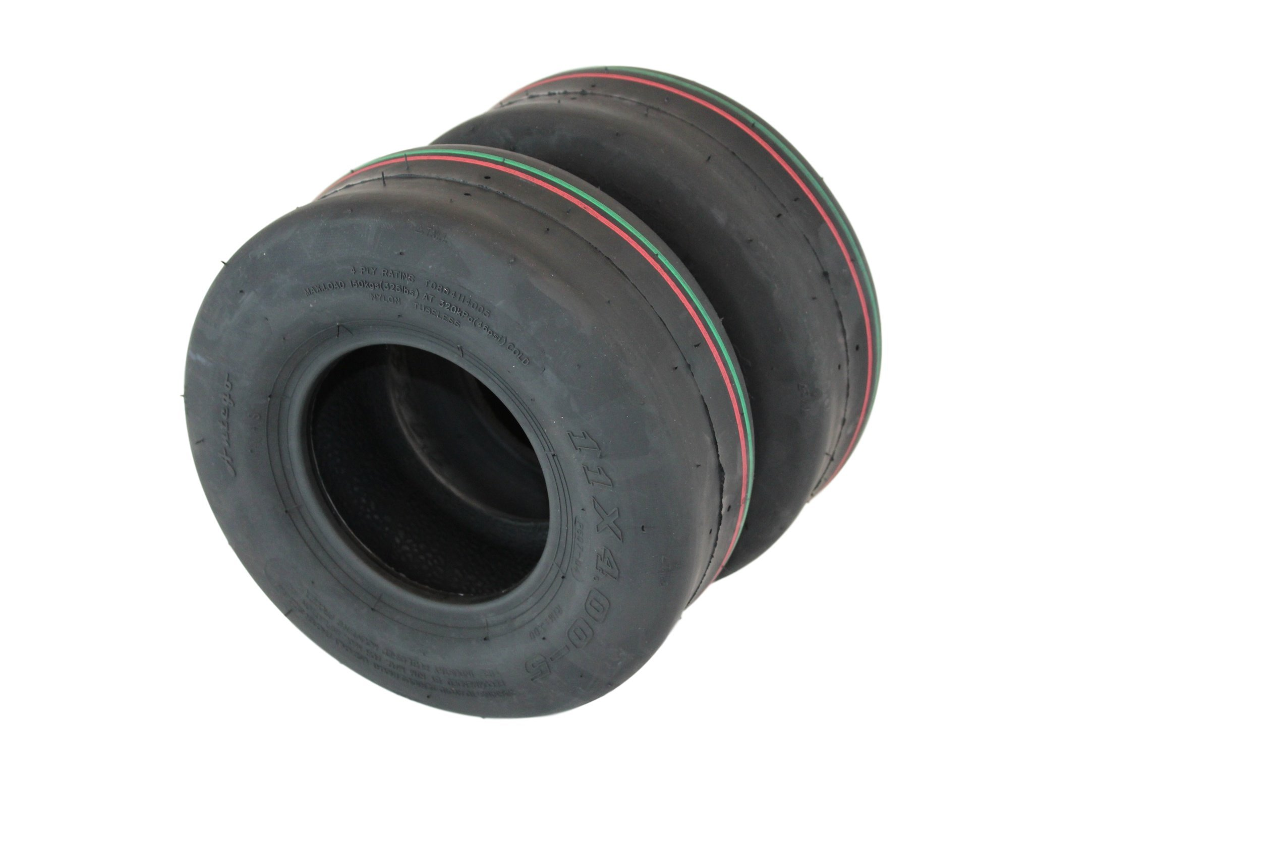 Set of Two 11x4.00-5 4 Ply Turf Tires for Lawn & Garden Mower 11x4-5