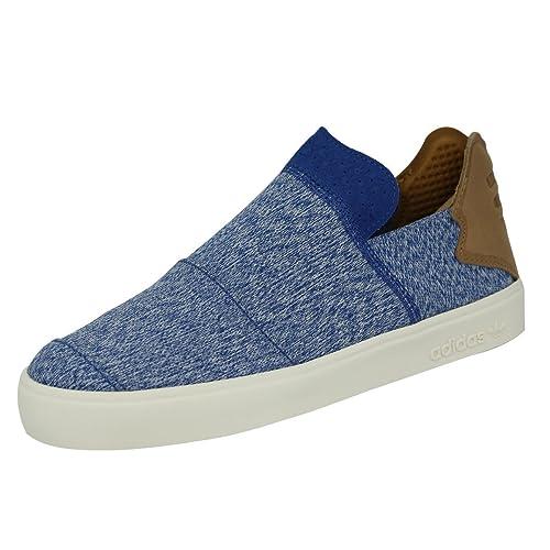 589201a9e7e4a adidas Originals Vulc Slip On Pharrell Williams Blue Men Sneakers Shoes (7)