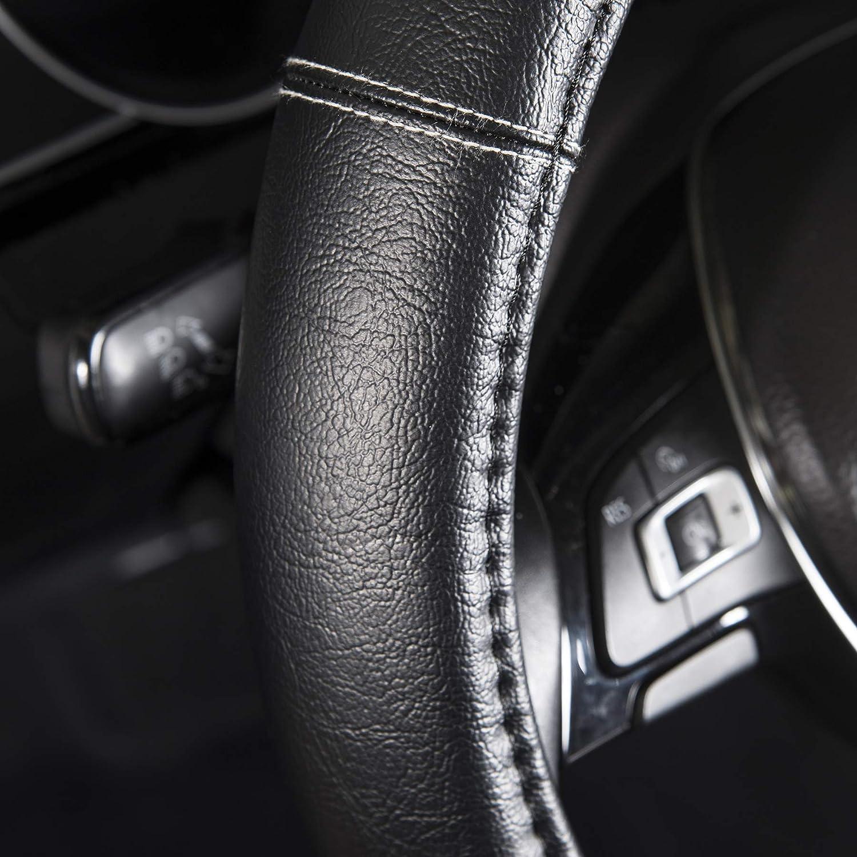 Wrc 7380 73247 Bestickte Schwartz Bestickte Silberne Lenkradabdeckung Black 0 Auto