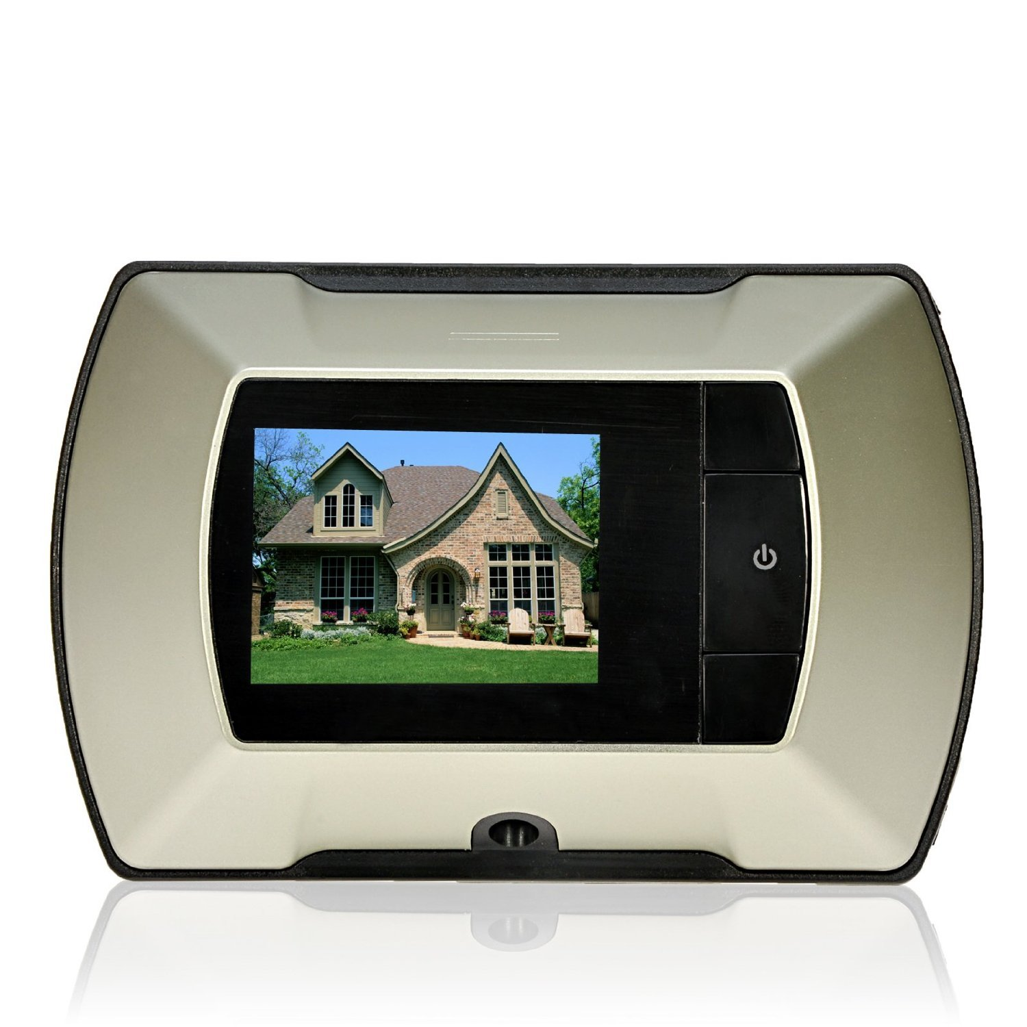 Tukzer Digital Door Viewer with 2.2'' LCD Screen Monitor, Battery-operated and Non-remote Video Peephole Viewer