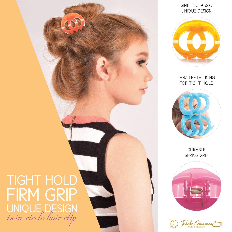 Rc Roche Ornament Womens Hair Accessory Twin Circle Round Fashion