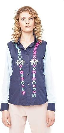 Morgan Visioli Fashion Camisa Mujer Engranajes con Tul ...