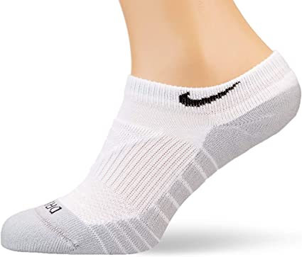 Nike Women's Dri Fit Cushioned No-Show Training Socks 3-Pack Athletic  NIKW-DRIFITCUSHION-WHITEWOL779.M