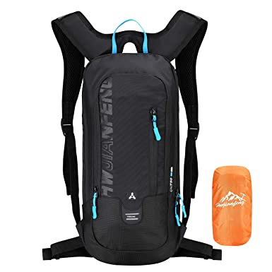 9aad2296f5c3d4 6L Small Bike Ski Backpack with Rain Cover, Mini Skiing Cycling Rucksack  for Hydration Running
